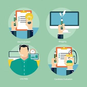 Set de diseños de negocios