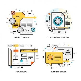 Set de diseños de proceso de trabajo