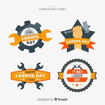 Set de distintivo del día del trabajo