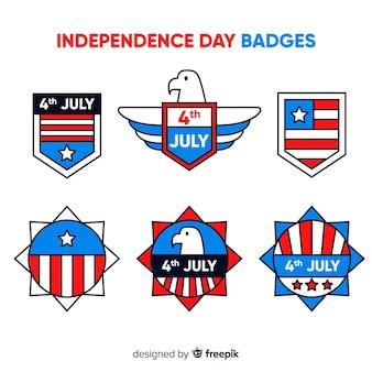 Set de distintivos del cuatro de julio