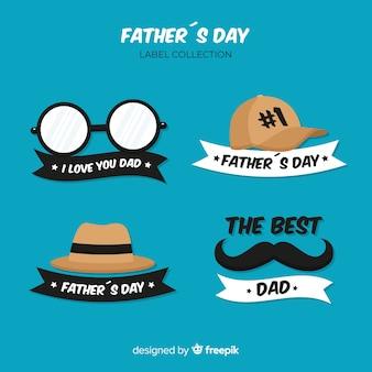 Set de distintivos del día del padre