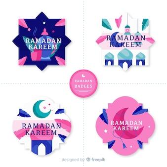 Set de distintivos de ramadán