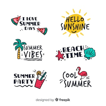 Set de distintivos veraniegos