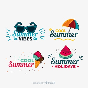 Set de distintivos de verano