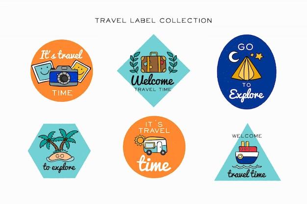 Set de distintivos de viajes
