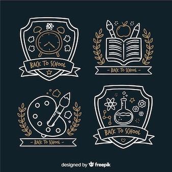 Set de distintivos de la vuelta al colef