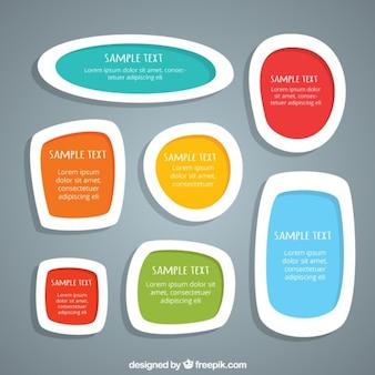 Set de divertidas cajas de texto