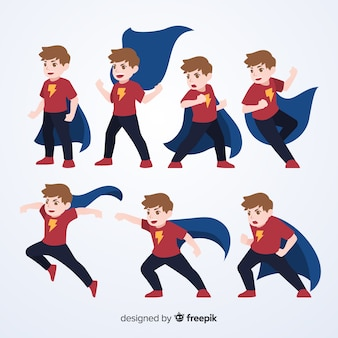 Set de divertidos superheroes