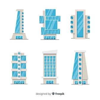 Set de edificios de oficinas