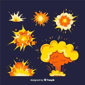 Set de efectos de explosiones de bombas