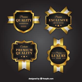 Set de elegantes pegatinas de productos exclusivos