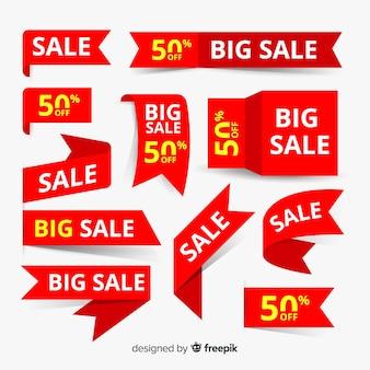 Set de elementos de anuncio de compras