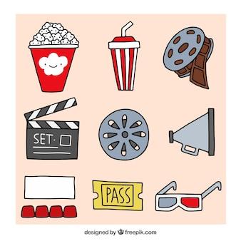 Set de elementos de cine