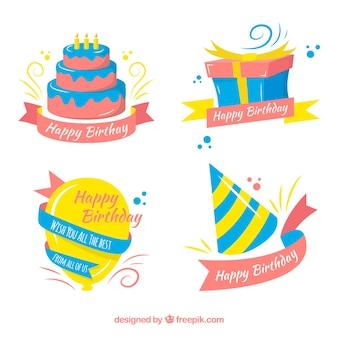 Set de elementos de cumpleaños