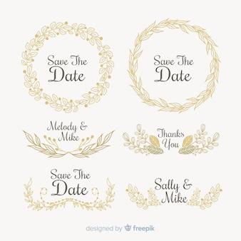 Set de elementos decorativos de salvar la fecha