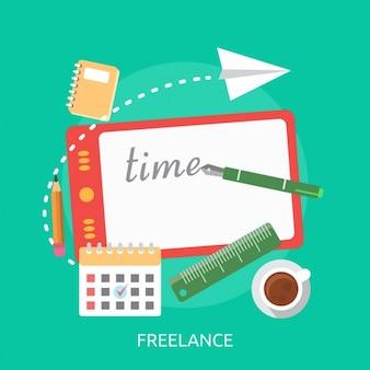 Set de elementos de diseñador freelance