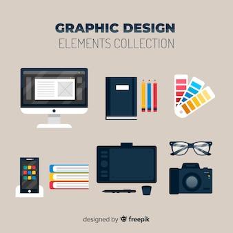 Set de elementos de diseño gráfico