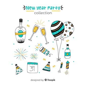 Set de elementos de fiesta para año nuevo