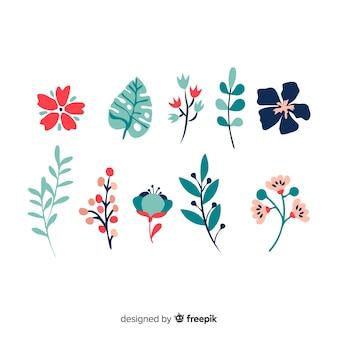 Set de elementos florales