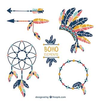 Set de elementos indígenas