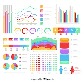 Set de elementos de infografía