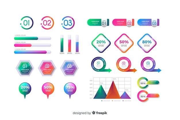 Set de elementos de infografías