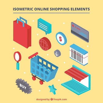 Set de elementos isométricos de compra online