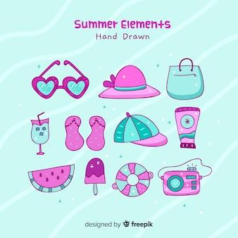 Set de elementos veraniegos