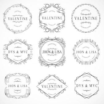 Set de elementos de vintage