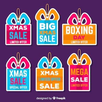 Set de emblemas de compras del boxing day