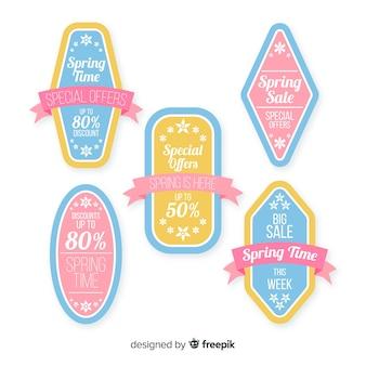 Set de emblemas de compras primaverales