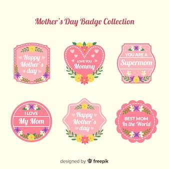 Set de emblemas del día de la madre