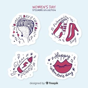 Set de emblemas del día de la mujer