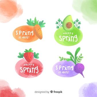 Set de emblemas de primavera
