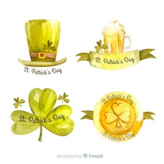 Set de emblemas de san patricio