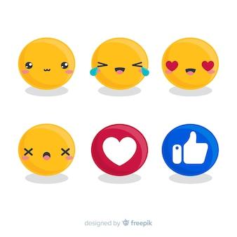 Set de emoticones