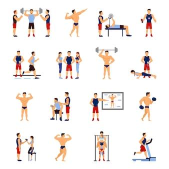 Set de entrenador de gimnasio