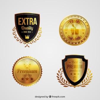 Set de escudos dorados premium
