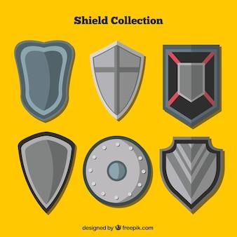 Set de escudos medievales