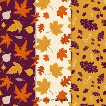 Set de estampados de otoño dibujados