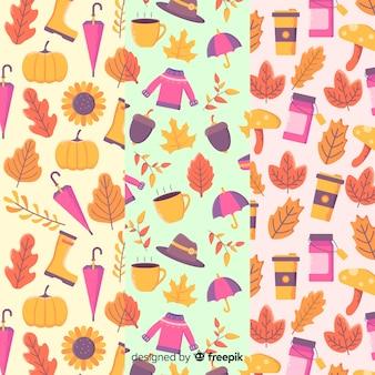 Set de estampados de otoño