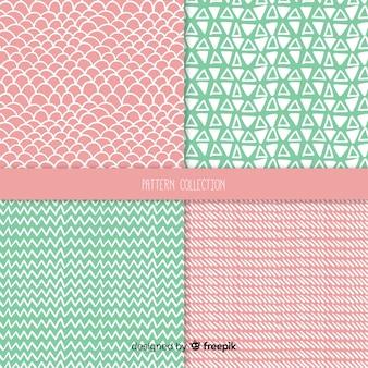 Set de estampados de texturas dibujadas