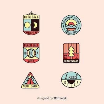 Set de etiquetas de aventura