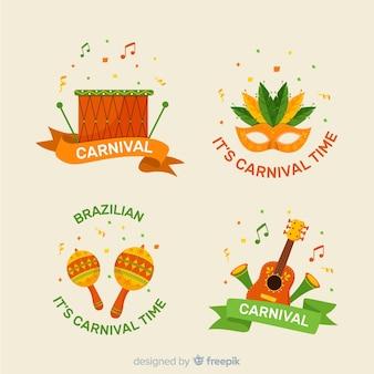 Set de etiquetas del carnaval de brasil