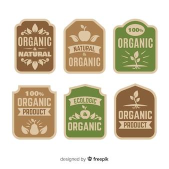 Set de etiquetas de comida orgánica