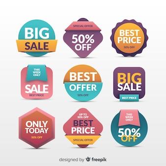 Set de etiquetas de compras