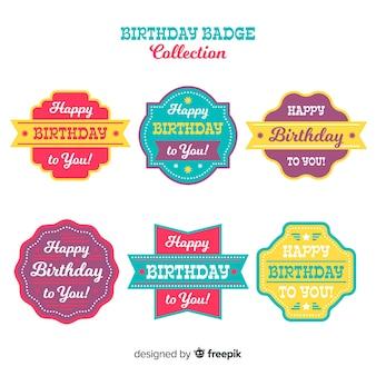 Set de etiquetas de cumpleaños