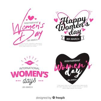 Set de etiquetas del día de la mujer