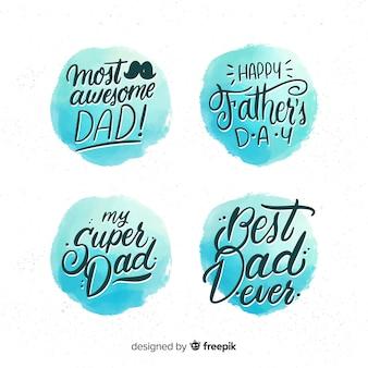 Set de etiquetas del día del padre