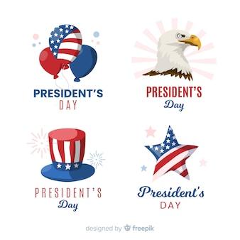 Set de etiquetas del día del president